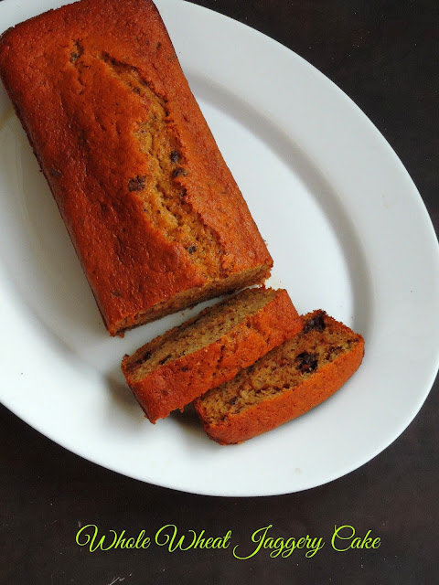 Jaggery Wholewheat Cake