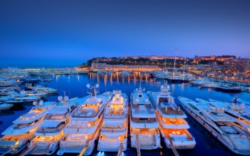 Wallpaper: Yachts in Port Hercule from Monaco