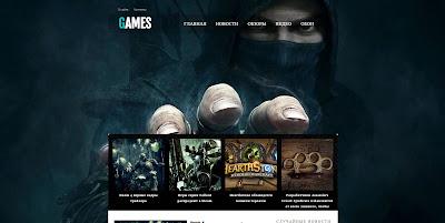 Games адаптивный шаблон для blogger