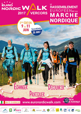 Affiche d'Euronordicwalk Vercors 2017