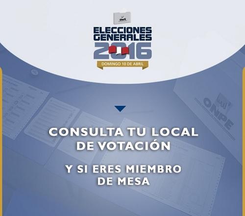 Informacion Electoral 2016