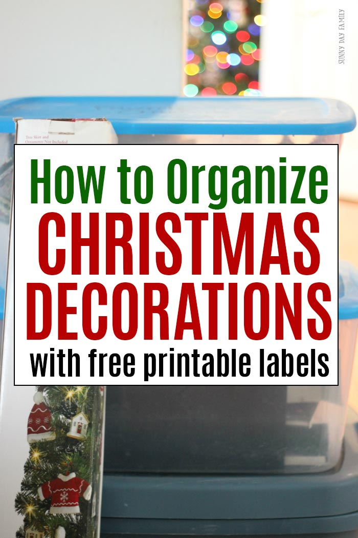 Organize your Christmas decorations so you can find them easily next year! Protect and store your ornaments, lights, and decor properly for a stress free Christmas next year.  #ChristmasDecorations #organizing #organized #organizedhome
