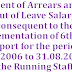 Payment of Arrears arising out of Leave Salary as per 6th CPC report for the period 01.01.2006 to 31.08.2008 to the Running Staff- RBE No. 148/2017