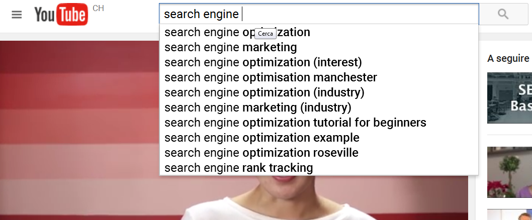 youtube instant search