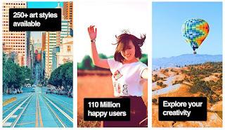 gambar dan fitur aplikasi prisma