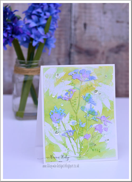 The Flower Challenge, background stamping, CAS