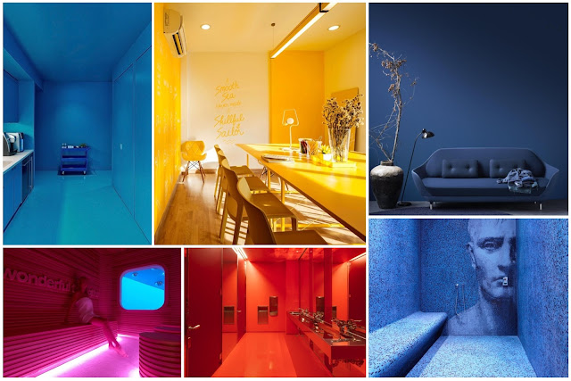 10 Monochromatic Interior Samples With More Daring Colors