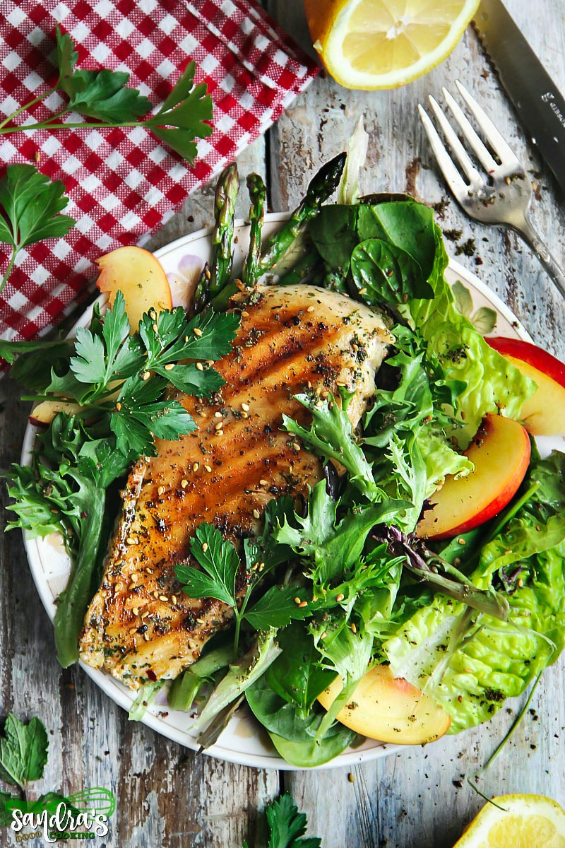 Valentine's Day Dinner Ideas - Thai Chili Grilled Chicken with Salad