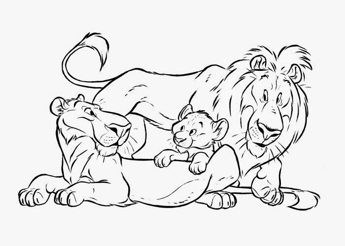 Dibujo De Cachorro De León Para Colorear: Lion Family Coloring Pages