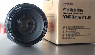 Lensa Fix Yongnuo 50mm f1.8 For Canon