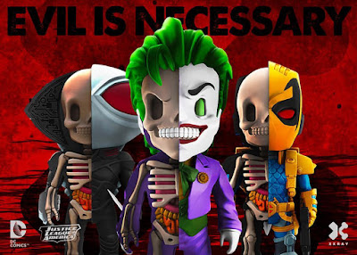 DC Comics XXRAY Dissection Villains Series 3 Vinyl Figures by Jason Freeny & Mighty Jaxx - The Joker, Deathstroke & Black Manta