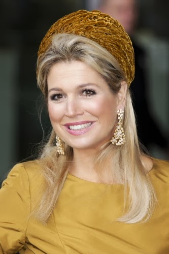 Queen Máxima of The Netherlands attended an exhibition opening in Amsterdam. Style of Queen Maxima