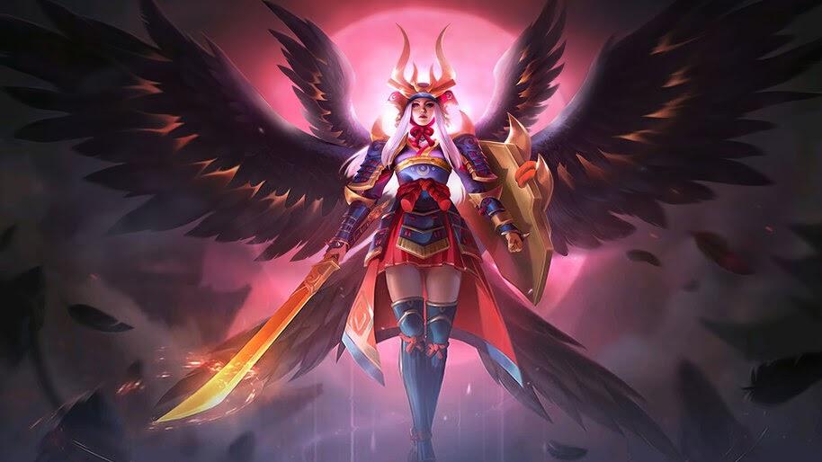 Freya, Raven Shogun, Mobile Legends, Skin, 4K, #5.2567