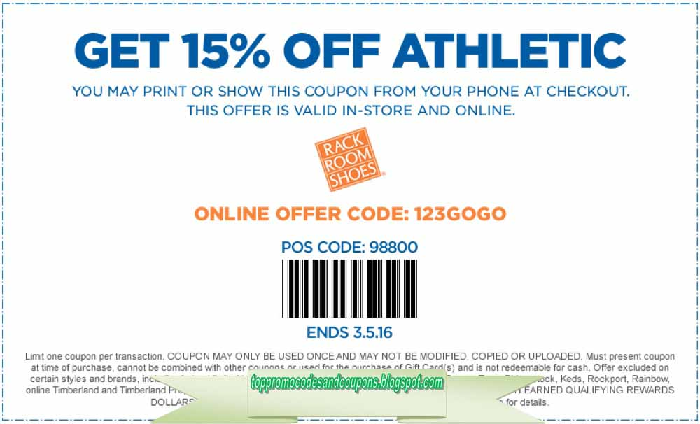 photograph regarding Rack Room Shoe Printable Coupons named Cost-free Promo Codes and Discount codes 2019: Rack Space Sneakers Discount coupons