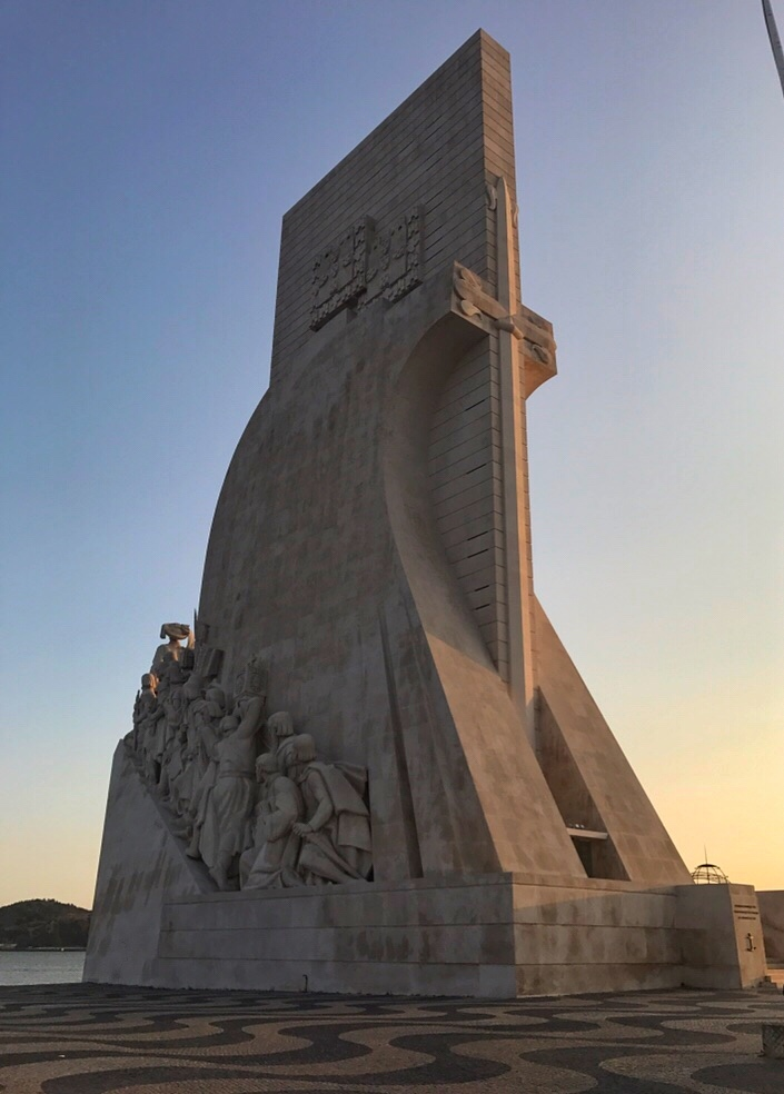 Sunset at Monument of the Discoveries Lisbon