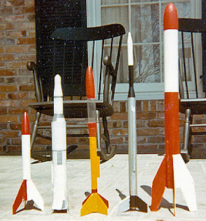 Estes Model Rockets 1969, Alpha, Saturn V (Semi Scale), X-ray, Aerobee 300, Astron Ranger, Model Rocket Store