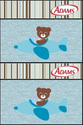Osito aviador: etiquetas para Chicles Adams, para imprimir gratis.