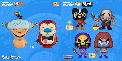 San Diego Comic-Con 2018 Exclusive TV Animation POP!, Dorbz & Vynl Vinyl Figures by Funko – Masters of the Universe, Ren & Stimpy, Bob's Burgers