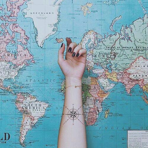 Tattoo Mapa Rosa dos Ventos Tatuagem