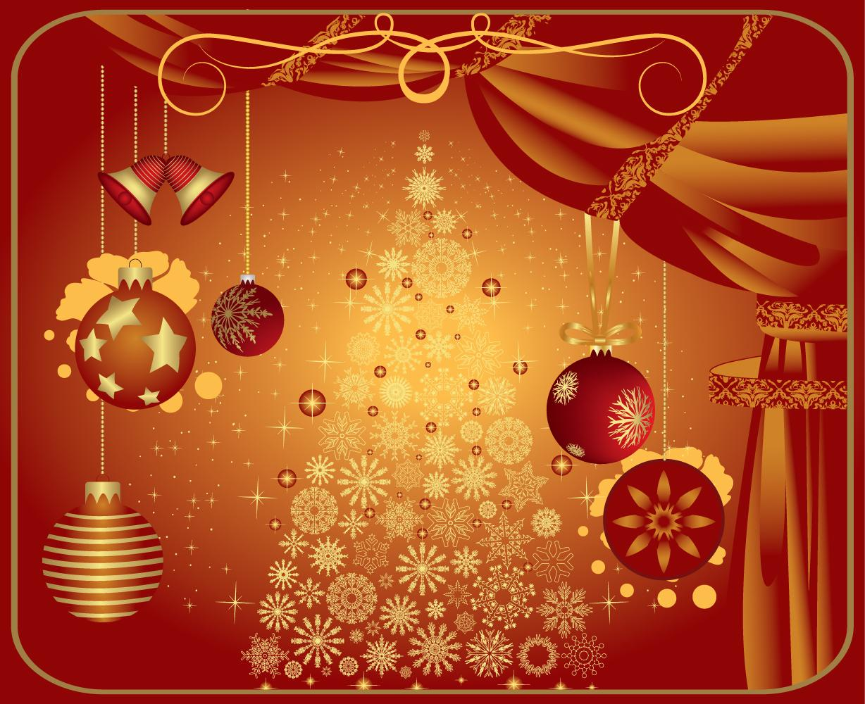 Holiday Background Or Greeting Card: December 2011