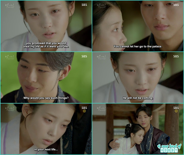 hae Soo ask Wang Jung not let her her daughter live in  the palace - Moon Lovers Scarlet Heart Ryeo - Episode 20 Finale (Eng Sub)