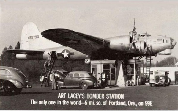 Art Lacey's Bomber Station Portland Oregon