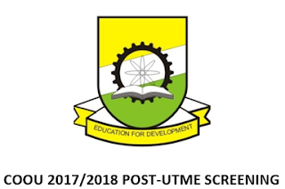 COOU (ANSU) 2017/2018 Post-UTME Supplementary Admission Form Out