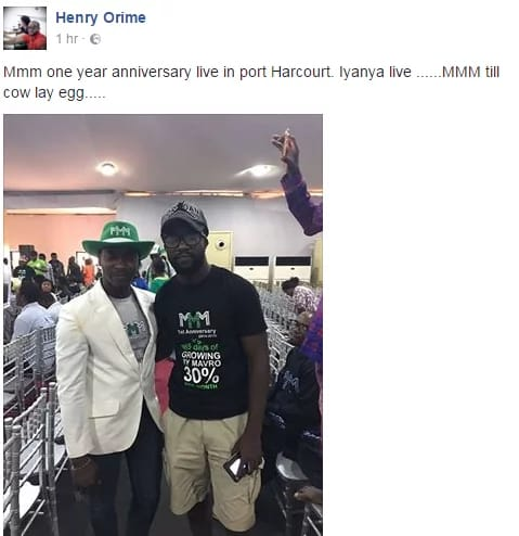 , Nigerian Music artiste spotted out in Port-Harcourt as MMM Nigeria celebrate a year anniversary