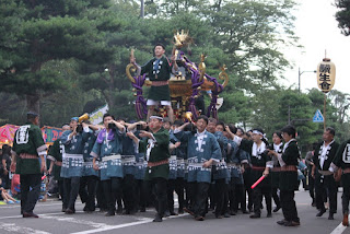 2014 Towada Fall Festival Mikoshi (portable shrine carrying) 平成26年 十和田秋まつり みこし