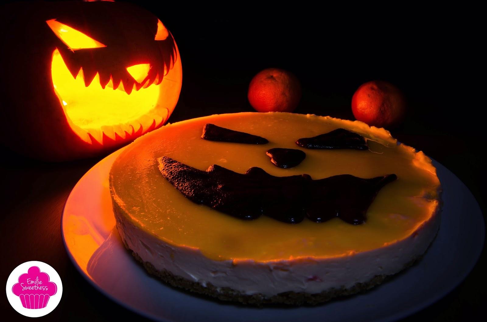 Cheesecake à la clémentine pour Halloween