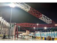 Crane yang Jatuh di Masjidil Haram Tak Miliki Izin Operasi