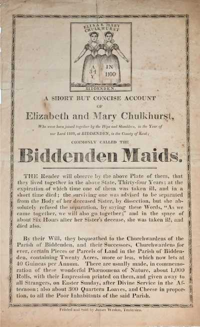 BOOKTRYST: Two Little Ladies, One Body: Meet the Biddenden ...