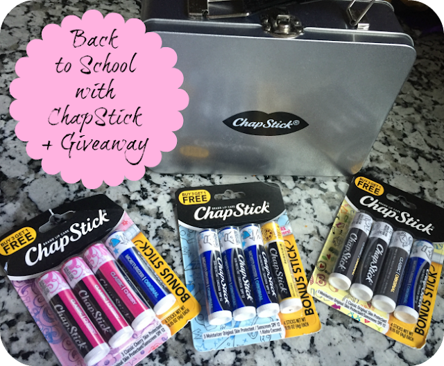 Back to School with ChapStick Giveaway