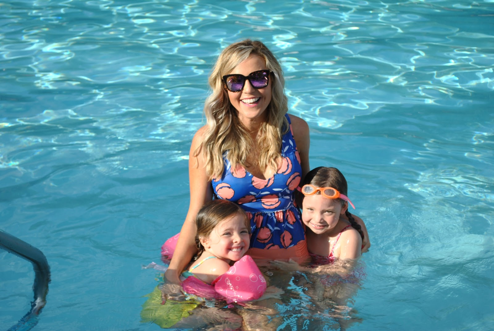 Mom and Mini Kortni Jeane Swimwear featured by top US life and style blog, Hello! Happiness
