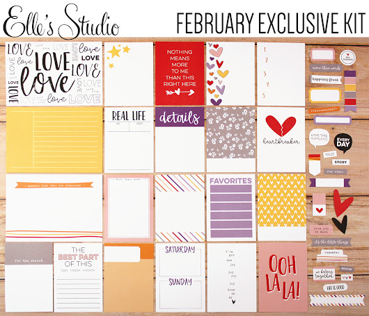 February Kits and Add Ons from Elle's Studio