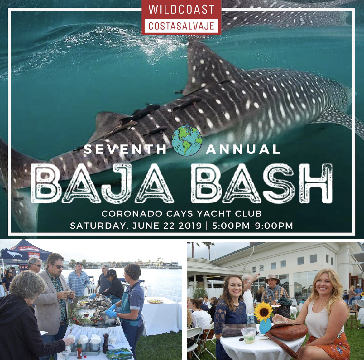 Support A Sustainable Coastline & Enjoy Delicious Cuisine At Wildcoast's Baja Bash - June 22!