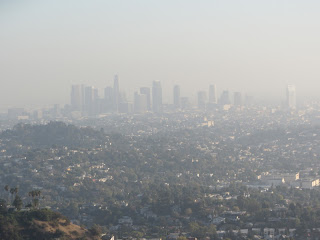 View south from Glendale Peak toward downtown L.A.