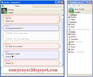 adalah aplikasi yang dipakai untuk komunikasi berbasis teks antara dua orang atau lebih  Aplikasi Instant Messenger Gratis untuk beberapa Akun Messenger sekaligus