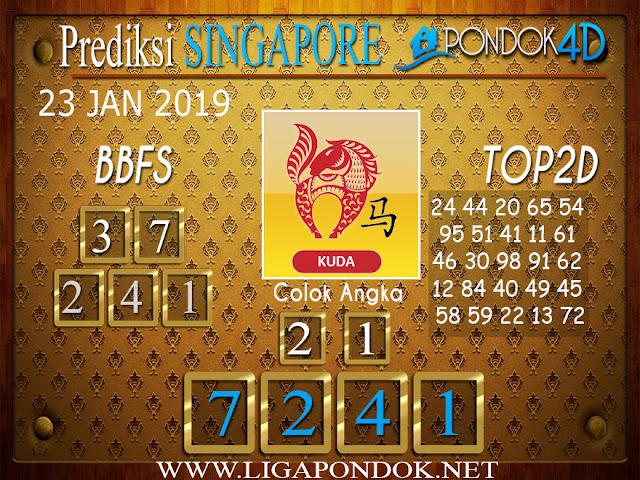 Prediksi Togel SINGAPORE PONDOK4D 23 JANUARI 2019