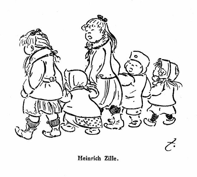Heinrich Zille 1906, children crossing the street