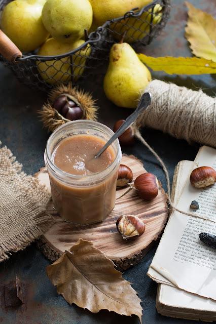 Confiture de poire, châtaigne et fève tonka