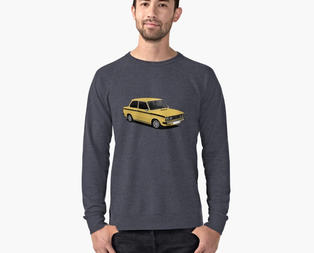 Yellow DAF 66 Super Luxe saloon, T-shirt