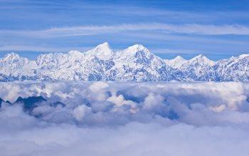 Wallpaper: On the highest peaks