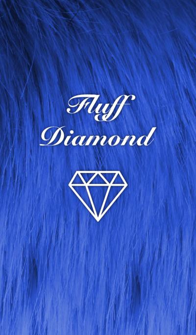Fluff Diamond- Dark blue