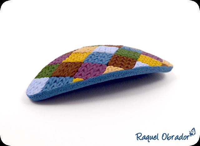 Broche arcilla imitación crochet