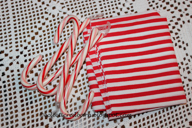 Eclectic Red Barn: Candy Canes and fabric
