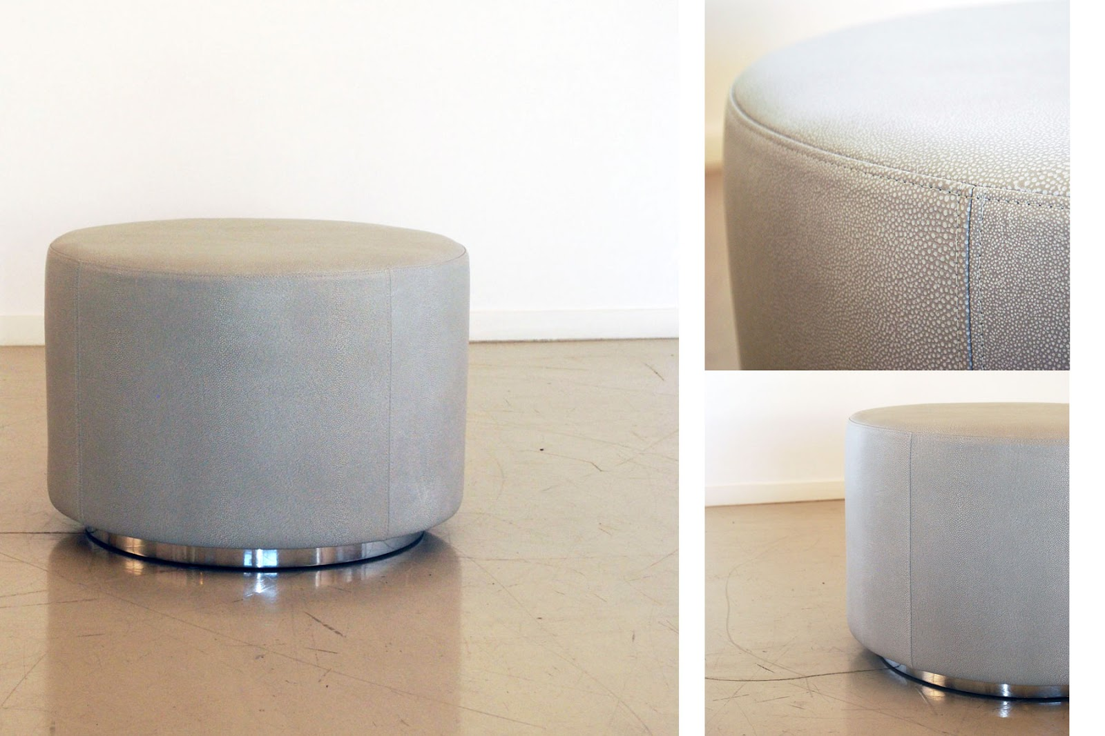 Classic Design: Small Leather Ottoman
