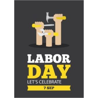 Labor Day Greeting Card free download vector