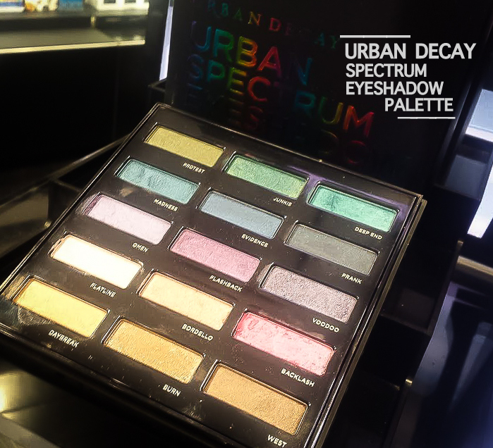 Urban Decay Spectrum Eyeshadow Makeup Palette - Swatches