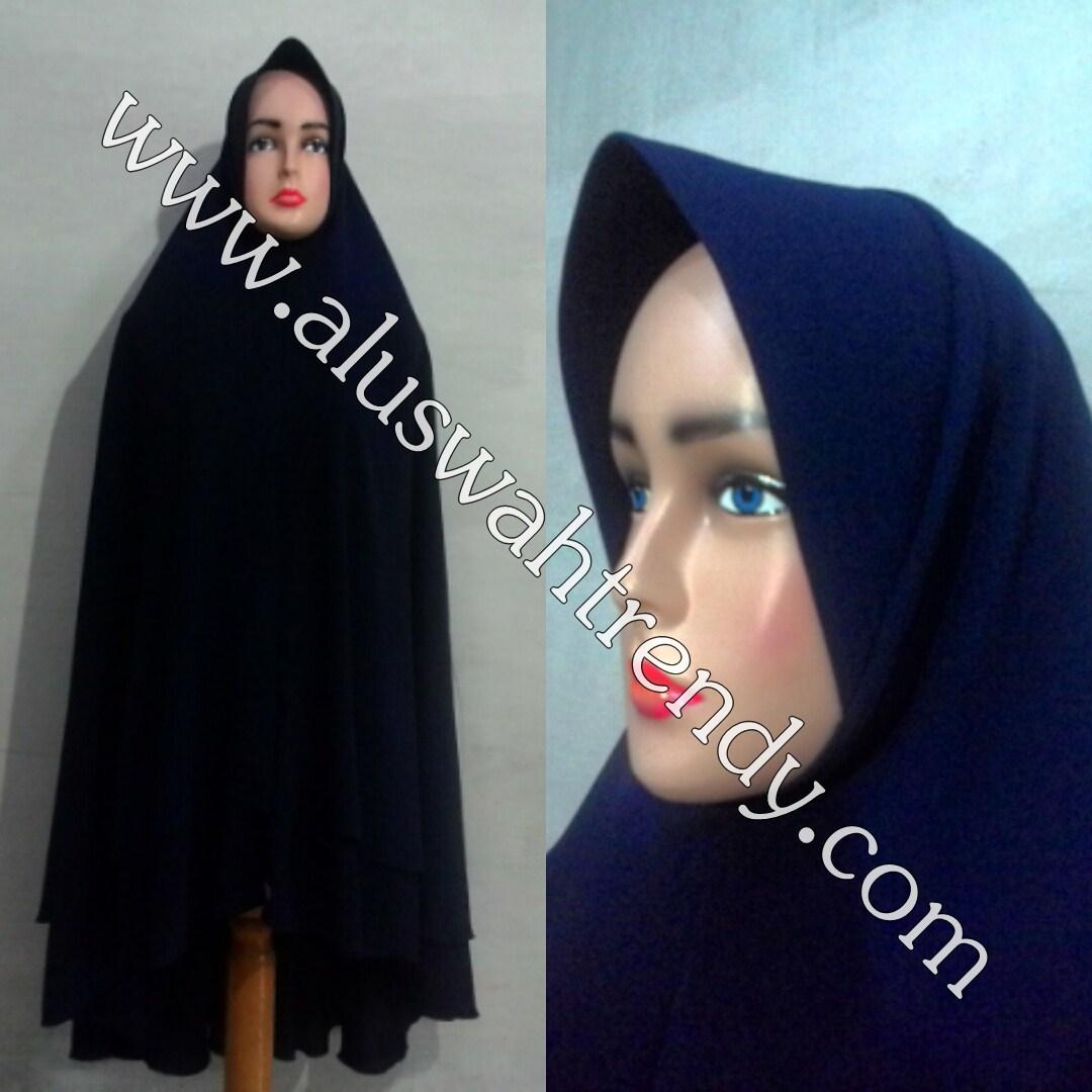Jilbab Khimar Instan Dua Layer Bobal 07